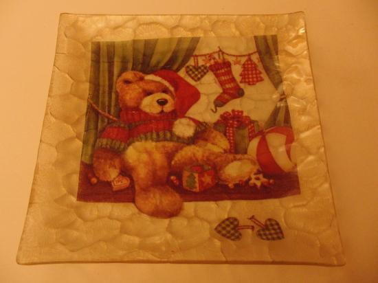 Assiette Ourson de Noël